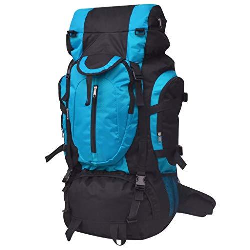 vidaXL Mochila Excursionismo XXL 75 L Negro y Azul