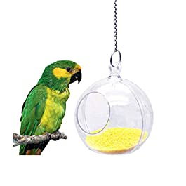 Bird Foraging Ball Toy Food Seed Feeder Bowl Indoor Outdoor Dispenser for Parrot Budgie Parakeet Cockatiel Conure Lovebird Finch African Grey Cockatoo Amazon Macaw Cage