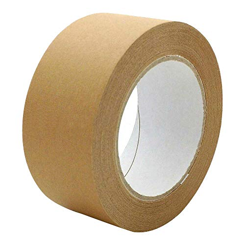 1-PACK Papierklebeband PR-210 Papierband mit Naturkautschukkleber 50mm braun/Papierpackband für umweltgerechtes Verpacken
