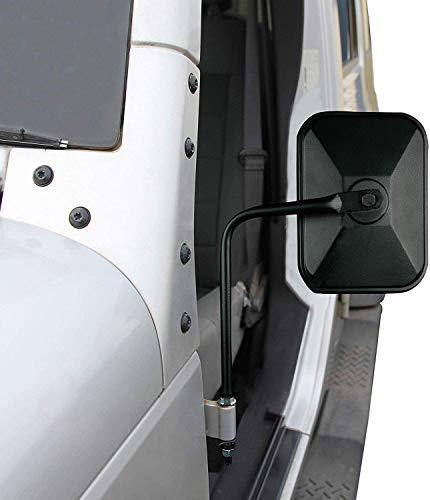 Adventure Door Hinge Mirrors Side View Shake-Proof Door Off Mirror for All Jeep Wrangler JK,JL(07-18), 2Pcs
