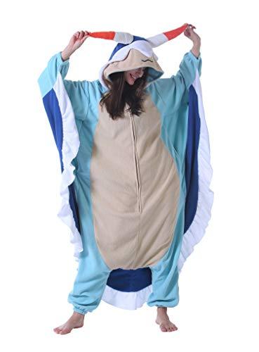 Jumpsuit Onesie Tier Karton Fasching Halloween Kostüm Sleepsuit Cosplay Overall Pyjama Schlafanzug Erwachsene Unisex Lounge Kigurumi,M(156-167CM),Seehase