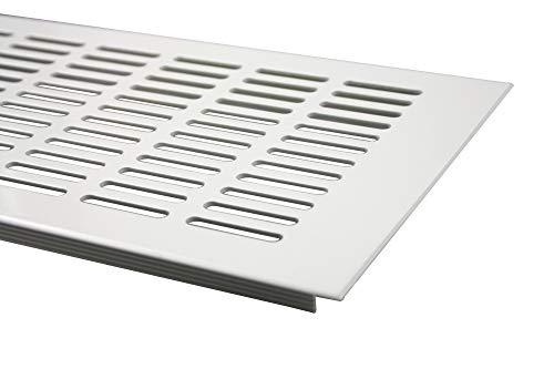 Lüftungsgitter Aluminium Stegblech Lüftung 150 mm x 500 mm in Verschiedenen Farben (Weiß pulverbeschichtet)
