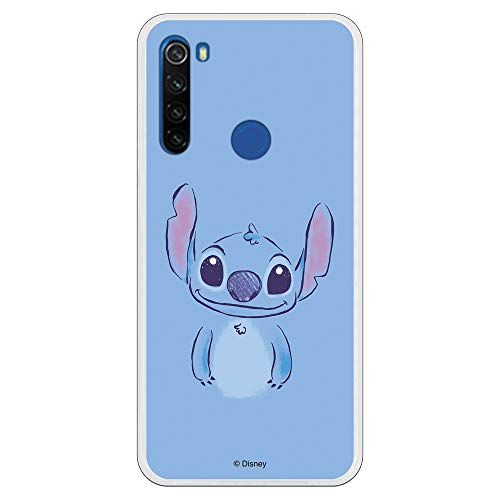 Funda para Xiaomi Redmi Note 8T Oficial de Lilo & Stitch Stitch Azul para Proteger tu móvil. Carcasa para Xiaomi de Silicona...
