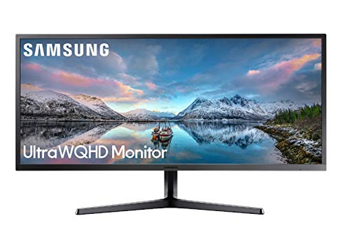 Samsung S34J552 Monitor per Video Editing Ultrawide Multitasking, PBP/PIP, 34 Pollici, Ultra WQHD, QHD, 2K, 3440 x 1440, 4 ms, 21:9, 60 Hz, 1440p, FreeSync, HDMI, Display Port, Base a Doppio Snodo