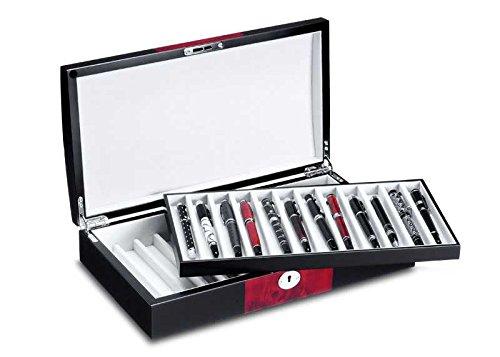 Ferocase FCPB957Dual Stifte Sammelbox/Penbox für 24 Stifte - schwarz-mahagonidekor