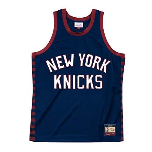 Mitchell & Ness NBA Team Heritage Tank (NY Knicks - Navy, S)