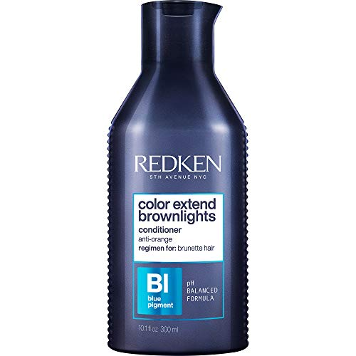 Redken Color Extend Brownlights Blue Toning Conditioner   For Natural & Color-Treated Brunettes   Tones Hair & Removes Brass  Sulfate-Free   8.5 Fl Oz, 10.1 fl. oz