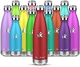 KollyKolla Borraccia Termica - 750ml 500mL 350mL 650ml Alluminio Bottiglia Acciaio Inox Acqua Termos...