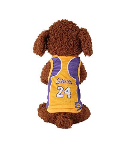 Sesamall - Ropa para perros, camiseta de baloncesto pequeña, mediana y grande, 45 cm, XXL