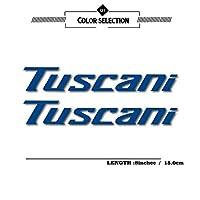 Danhomer ヒュンダイTuscaniでTuscaniでのロゴのためのステッカー反射ステッカー防水モト保護カバーデカールフィルム車のステッカー (Color : Reflective blue)