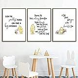 Klassische Winnie The Pooh Bilder Posterset Leinwand