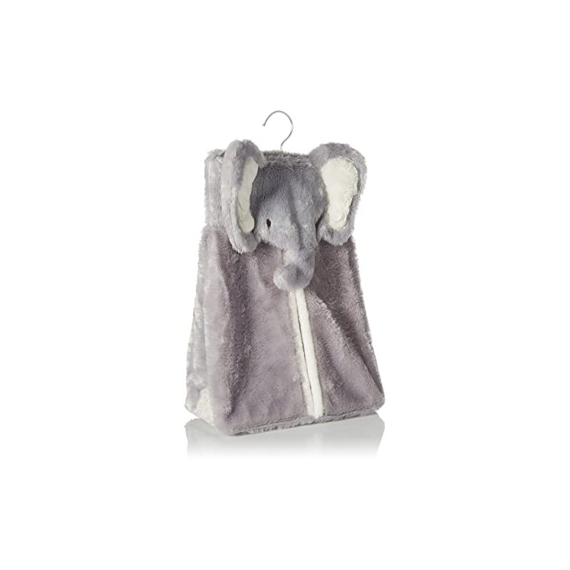 crib bedding and baby bedding levtex home baby diaper stacker, grey elephant