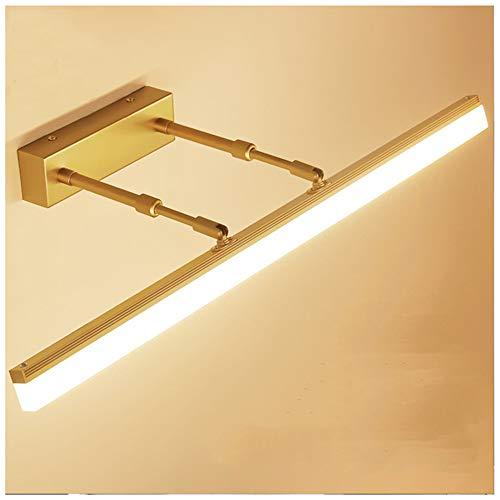 Led Badleuchte Spiegelleuchte 14W 60Cm 980Lm Retro Badlampe Badezimmer Spiegellampe Ip22 Wasserdichte Metall Schrankleuchte Rustikale Schminklicht Acryl Aufbauleuchte,Gold,füR Bad MöBel Spiegel