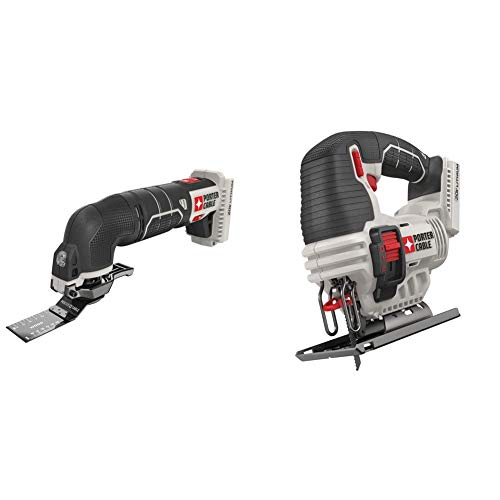 PORTER-CABLE 20V MAX Oscillating Tool with 11-Piece Accessories, Tool Only (PCC710B) & 20V MAX Jig Saw, Tool Only (PCC650B)
