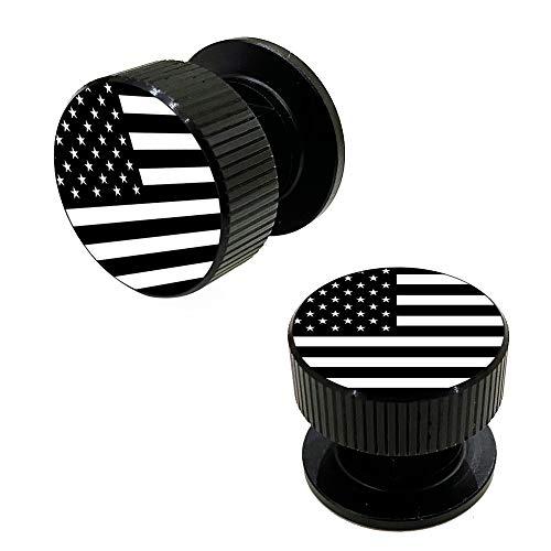 Welding Hood Pipeliner Helmet Fasteners-1Pair Black American Flag Pattern Aluminum Helmet Pipeliner Headgear Replacement Parts Accessories Screws Flip Hood, Anti-rust and durable (black-zw)