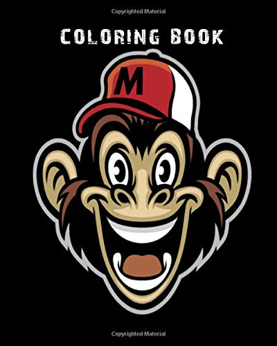 Coloring Book: funny monkey wearing a baseball cap - 59 pages - 8 x 10 inches