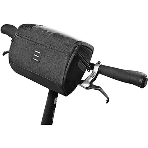 FSCLJ Bolsa para Manillar Bolsa para Cuadro de Bicicleta Bolsa Impermeable Multifuncional para Cuadro de Bicicleta con Soporte para Mapa y Correa para el Hombro para MTB Mountain Road