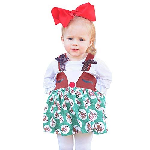 JERFER Ärmellos Karikatur Drucken Kleid Kleinkind Kinder Baby Mädchen Weihnachten Kleid Kleider
