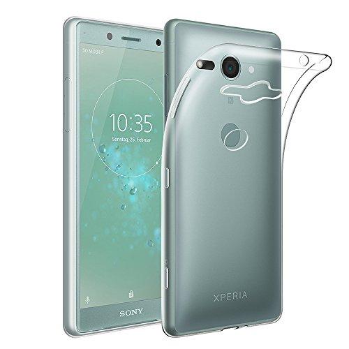 Qoosea Sony Xperia XZ2 Compact Hülle Transparent Ultra Slim Schutzhülle Crystal Clear Soft Flex Silikon Anti-Rutsch Kratzfest Handyhülle Hülle Cover für Sony XZ2 Compact