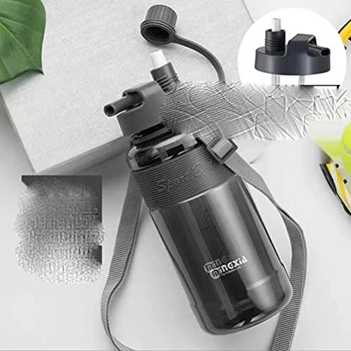 1L 2L 3L Botella de agua deportiva de gran capacidad Taza de agua portátil para desechos con paja Camping al aire libre Picnic Escalada Botella de agua-E