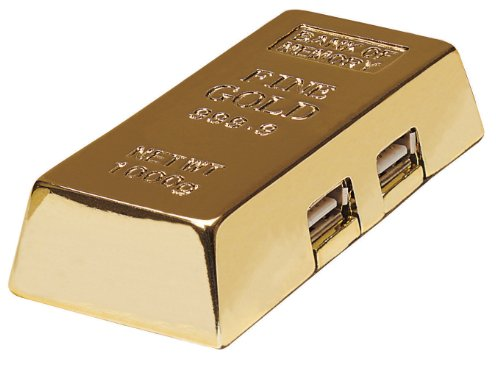 Manhattan 4-Port Gold Bar Hi-Speed USB Hub - Gold Color (161541)