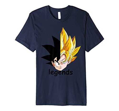 past and now goku's Premium T-Shirt