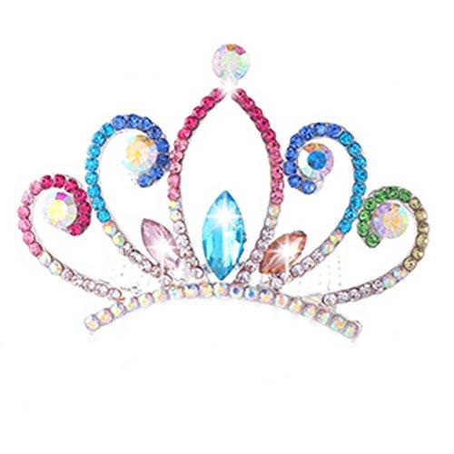 Crystal Crown Elégant Coiffe Bridal Plait Peigne