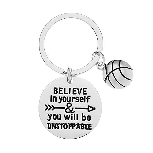 Sportybella Basketball Keychain, Basketball Player Gifts, Believe in...