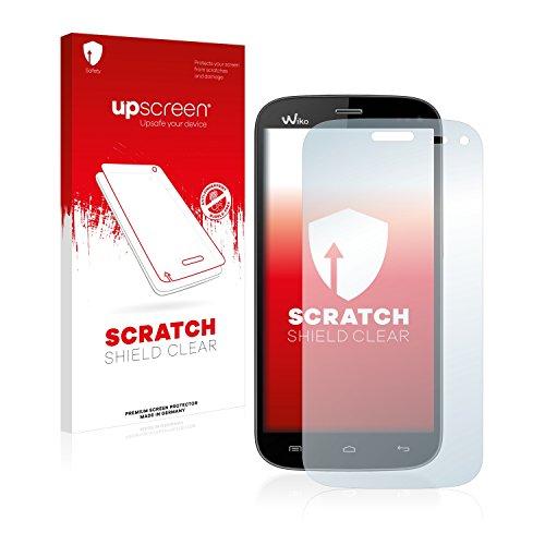upscreen Schutzfolie kompatibel mit Wiko Darkmoon – Kristallklar, Kratzschutz, Anti-Fingerprint