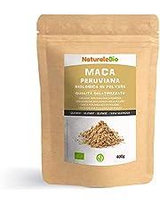 Biologisch Peruaans Macapoeder [Gegelatineerd] 400 gram. 100% natuurlijk en zuiver maca in poeder, geproduceerd in Peru, gewonnen uit biologische Macawortel. NaturaleBio
