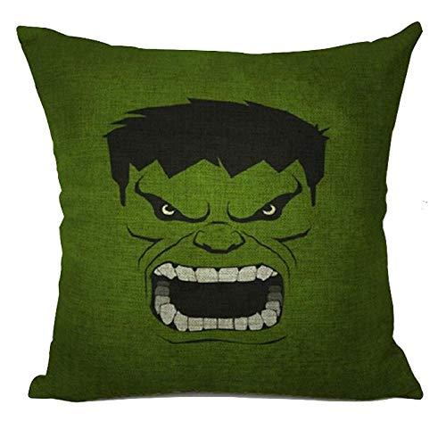 The Beach Stop TBS Superhero Character Cushion Cover (Hulk Face)