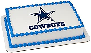 NFL Dallas Cowboys Licensed Edible Sheet Cake Topper #22877