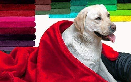 tierlando Hundedecke Lilly Plüsch Plüschdecke Hundebett Decke Katzendecke WEICH Größe: HD-075 cm   Farbe: 23 Rot