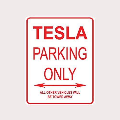 Tesla Parking Only Aluminium Straßenschild