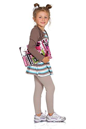 FUTURO FASHION® - Leggings para niñas - Cálidos y gruesos - Algodón - Beige - Talla 4 años