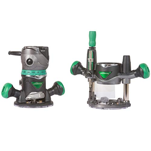Metabo HPT Router Kit, Fixed/Plunge Base, Variable Speed, 11 Amp Motor, 2-1/4 Peak HP (KM12VC)