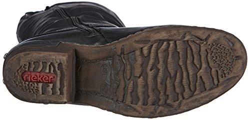Rieker 93655 Damen Langschaft Stiefel, schwarz - 4