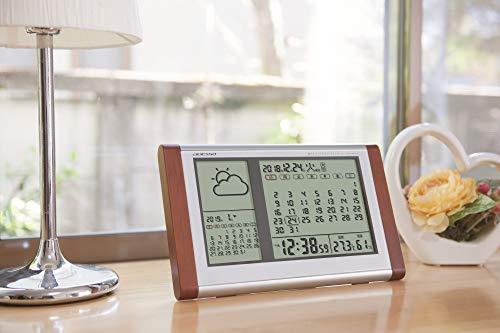 ADESSO(アデッソ)『カレンダー天気電波時計』