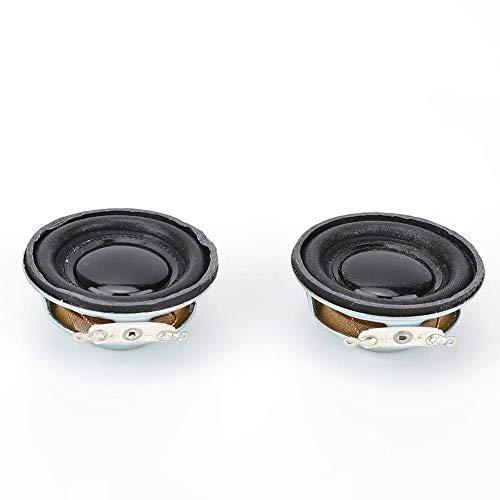 2psc 3W 4Ω Lautsprecher Horn Audio Stereo Lautsprecher 4cm für Mini Verstärker, Metallgehäuse Runder interner Magnet Lautsprecher