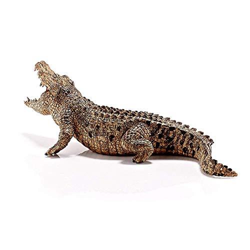 Cyhamse 18,3 cm, figura de cocodrilo, juguete simulador de cocodrilo, reptil, modelo animal, cocodrilo, juguete para niños, juguete educativo