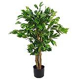 Árbol ficus Artificial de Hoja perenne, 90 cm