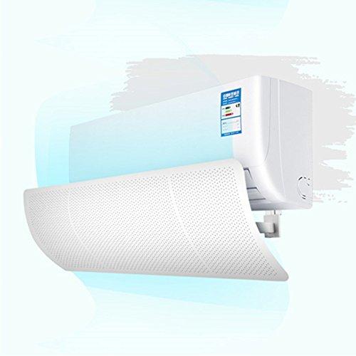 エアコン風よけカバー エアコン用風よけ板 可変式風除け羽板 冷房暖房通用 風向き角度調節 ぶら下げる式 壁に穴あけ不要 様々な大きさのエアコンにも対応できる(ホワイト)