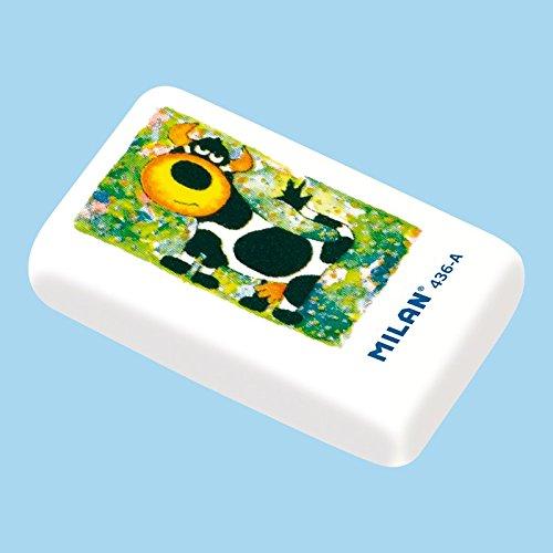Box von 36Radiergummis Krume Brot Milan Zeichnungen Tiere cnm436a weiß