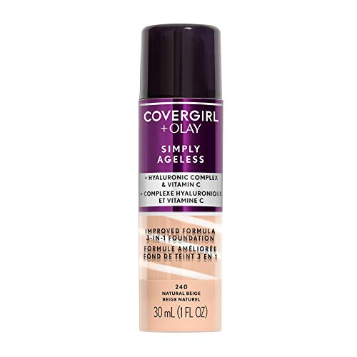 COVERGIRL+OLAY Simply Ageless 3-in-1 Liquid Foundation, Natural Beige