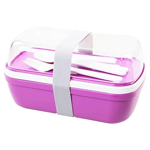 Meine Bento 2 dieren 3 delen Split apart vak Lunch/Sushi Box + bestek