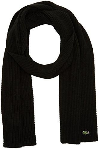 Lacoste Mannen Ribbed sjaal, zwart (Noir), (fabrikantmaat: One Size)