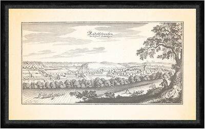 Kunstdruck Radolfshausen im Fürstenthum Grubenhagen Amtshaus Schloß Faks_Merian 0524