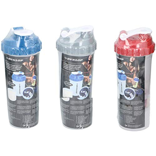 PACK OF 3 PROTEIN SHAKER WITH POWDER STORAGE COMPARTMENT 350ML SPORTS –GYM BOTTLE
