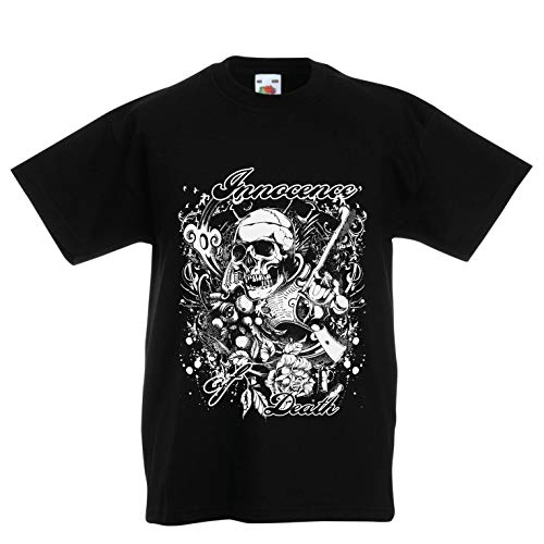 lepni.me Camiseta de Manga Larga para Hombre Inocencia de la Muerte Calavera