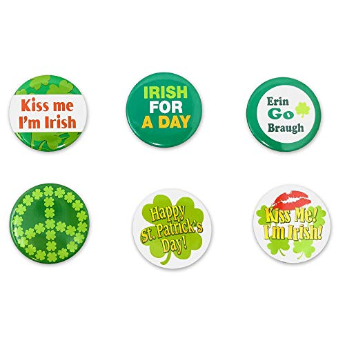St. Patrick's Day Irish Holiday Pins for Party Favors or Clothing...